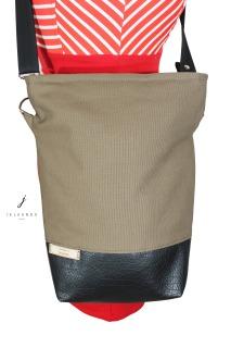 schlichte vegane Handtasche in Taupe Handtasche
