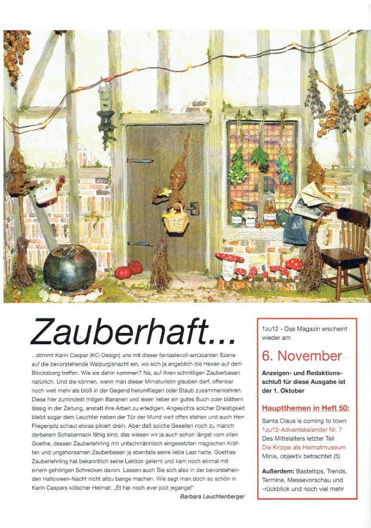 Nr 1zu12 Das Magazin September Oktober