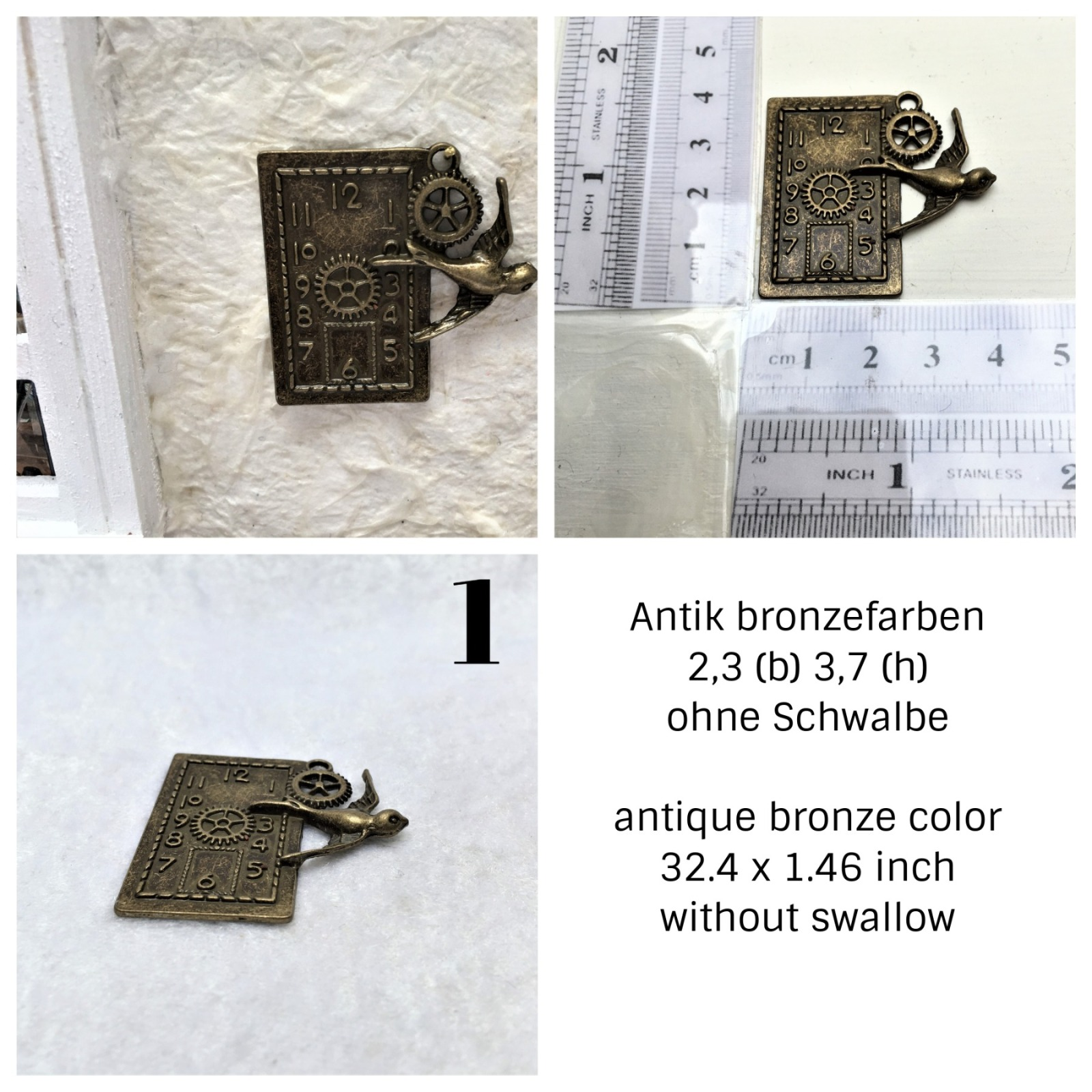 Uhren antik Bronzefarben