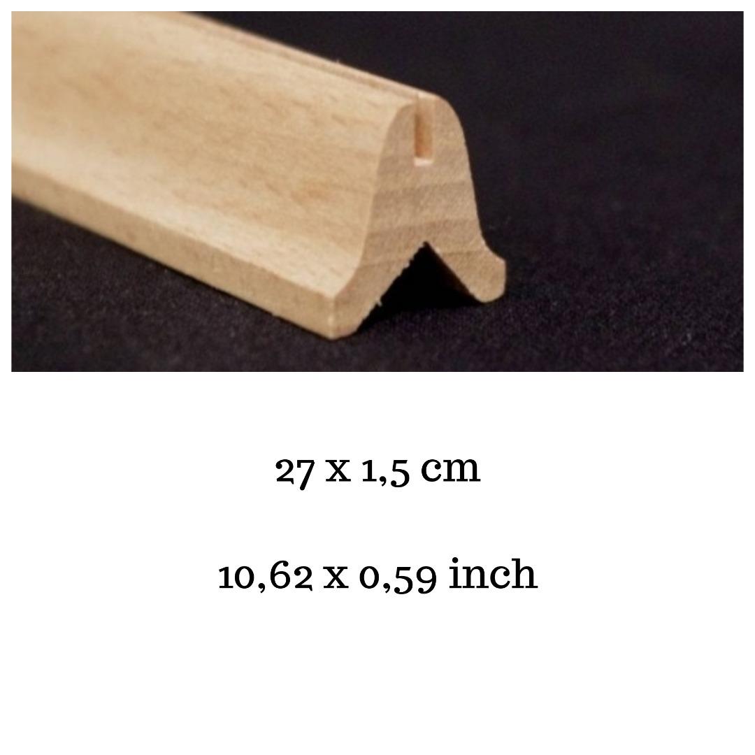 Leiste cm Holz natur unbehandelt für