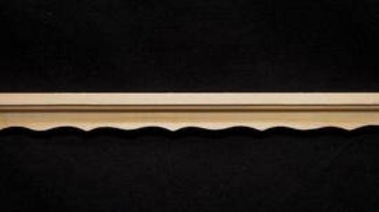 Leiste cm Holzleiste Deckenleiste Holz natur