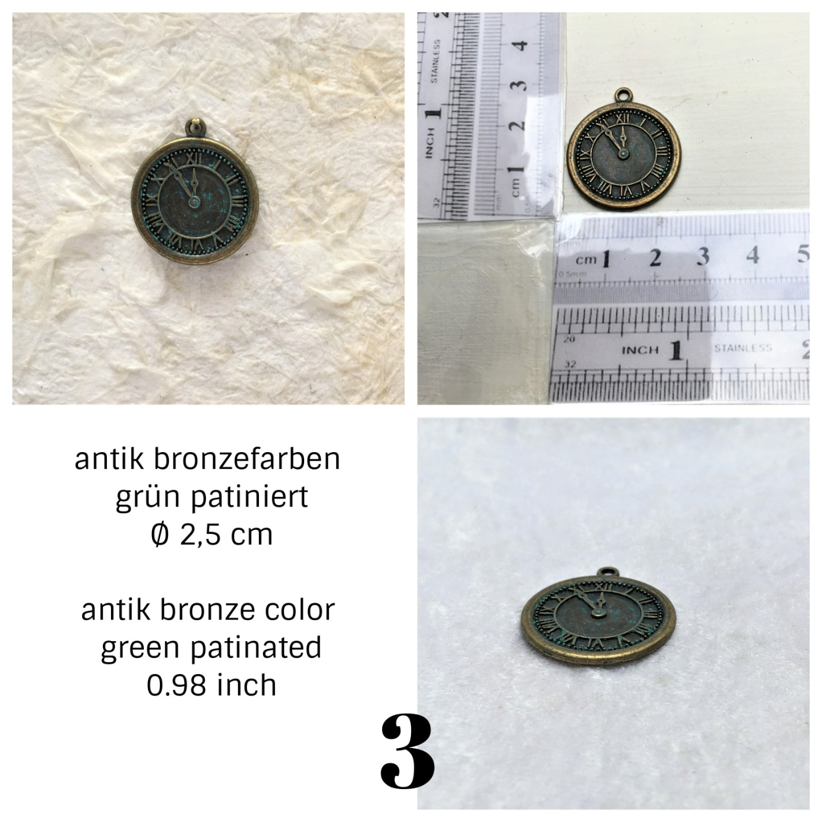 Uhren antik Bronzefarben 3