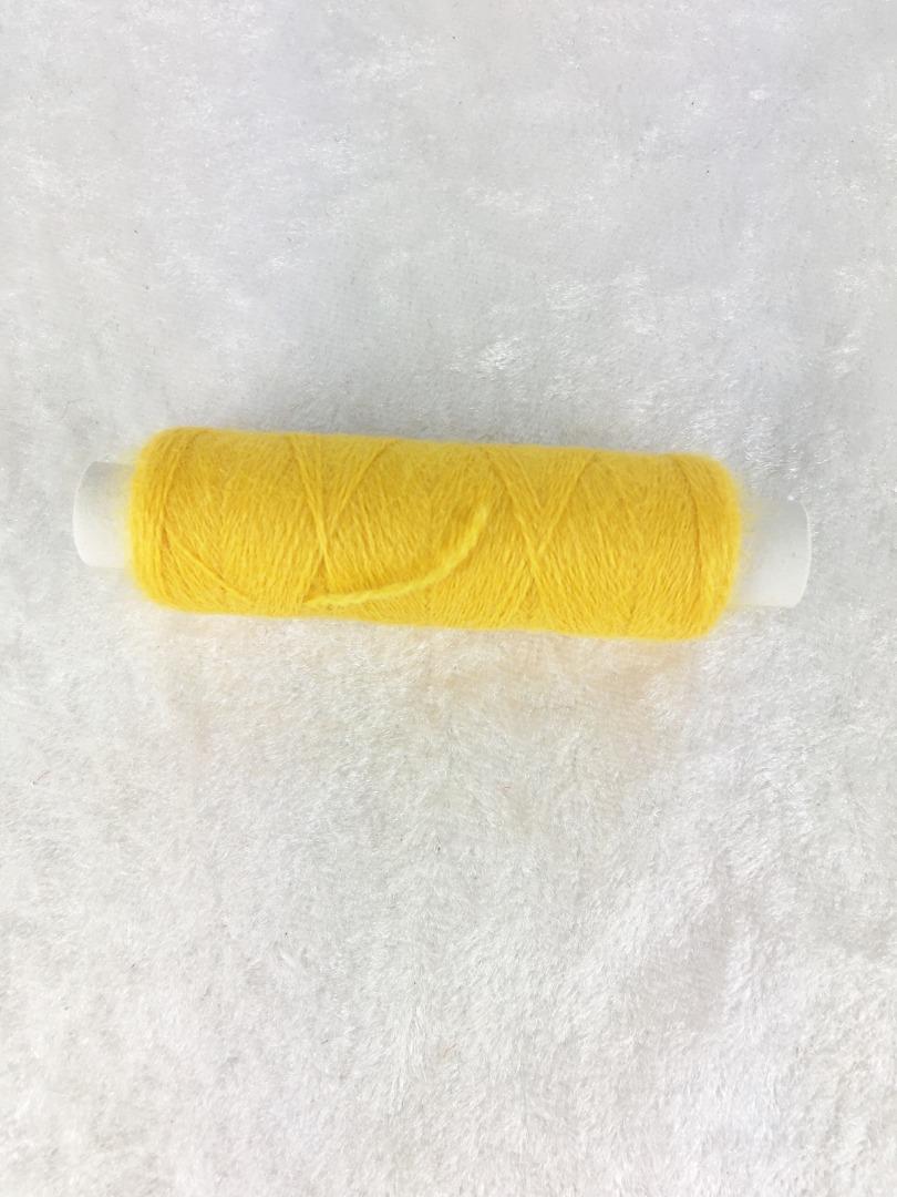 Schurwolle 4-1005 Sonnengelb Strick-und Häkelgarn für