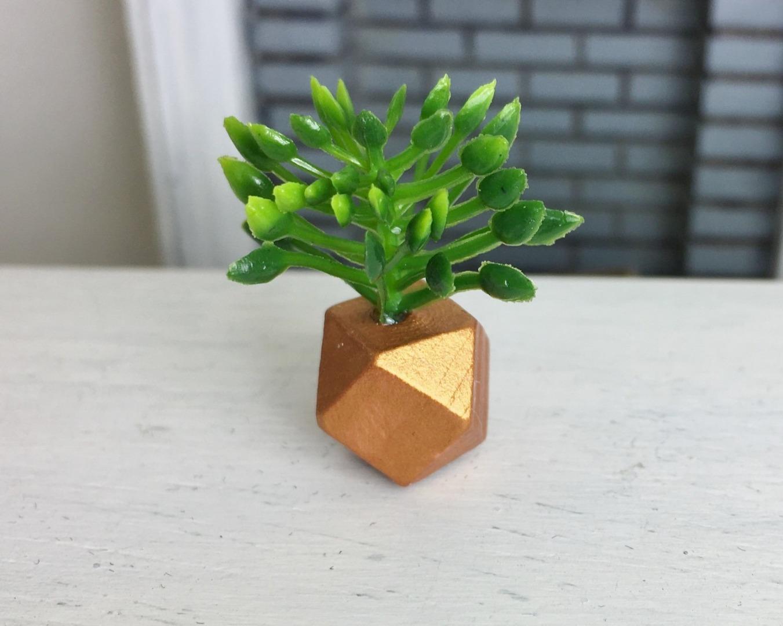 Grünpflanze in geometrischer Vase 6