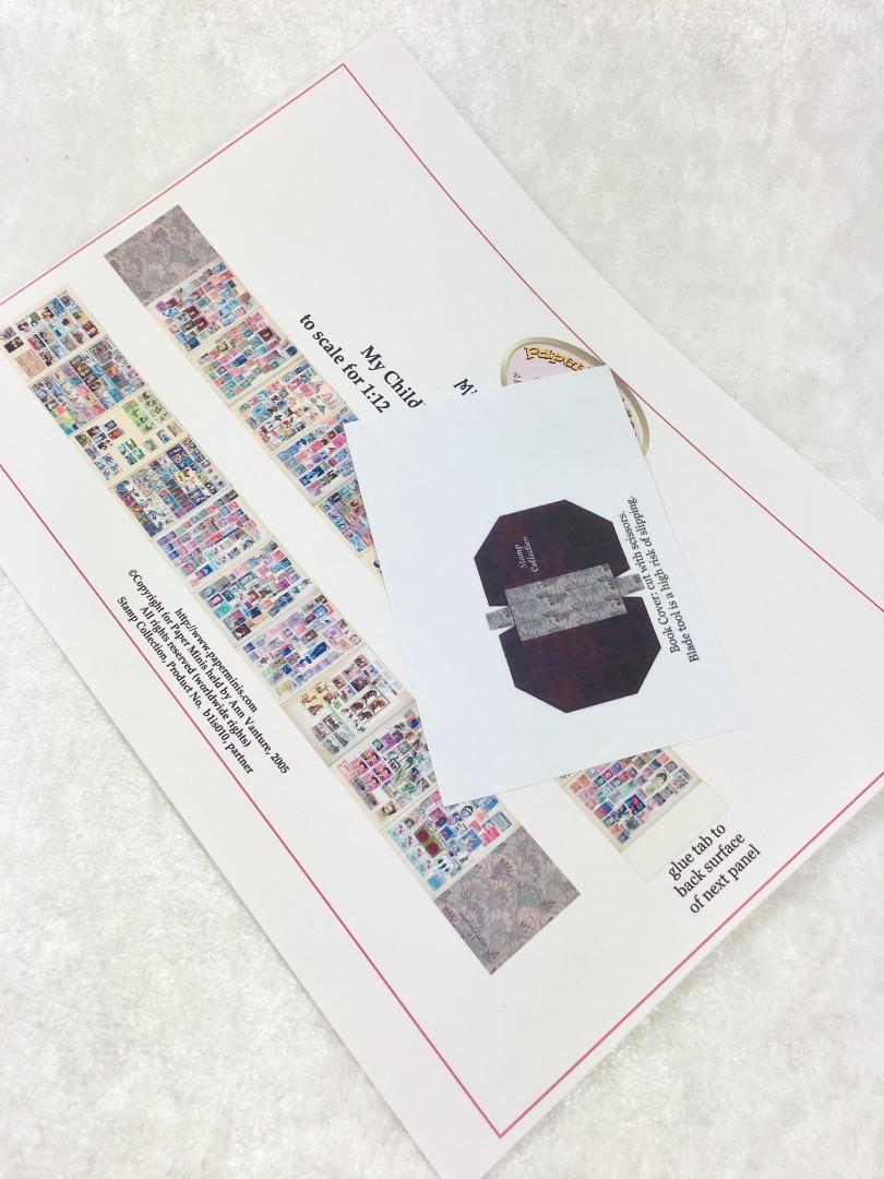 Briefmarkenalbum Paperminis Bastelkit aus Papier
