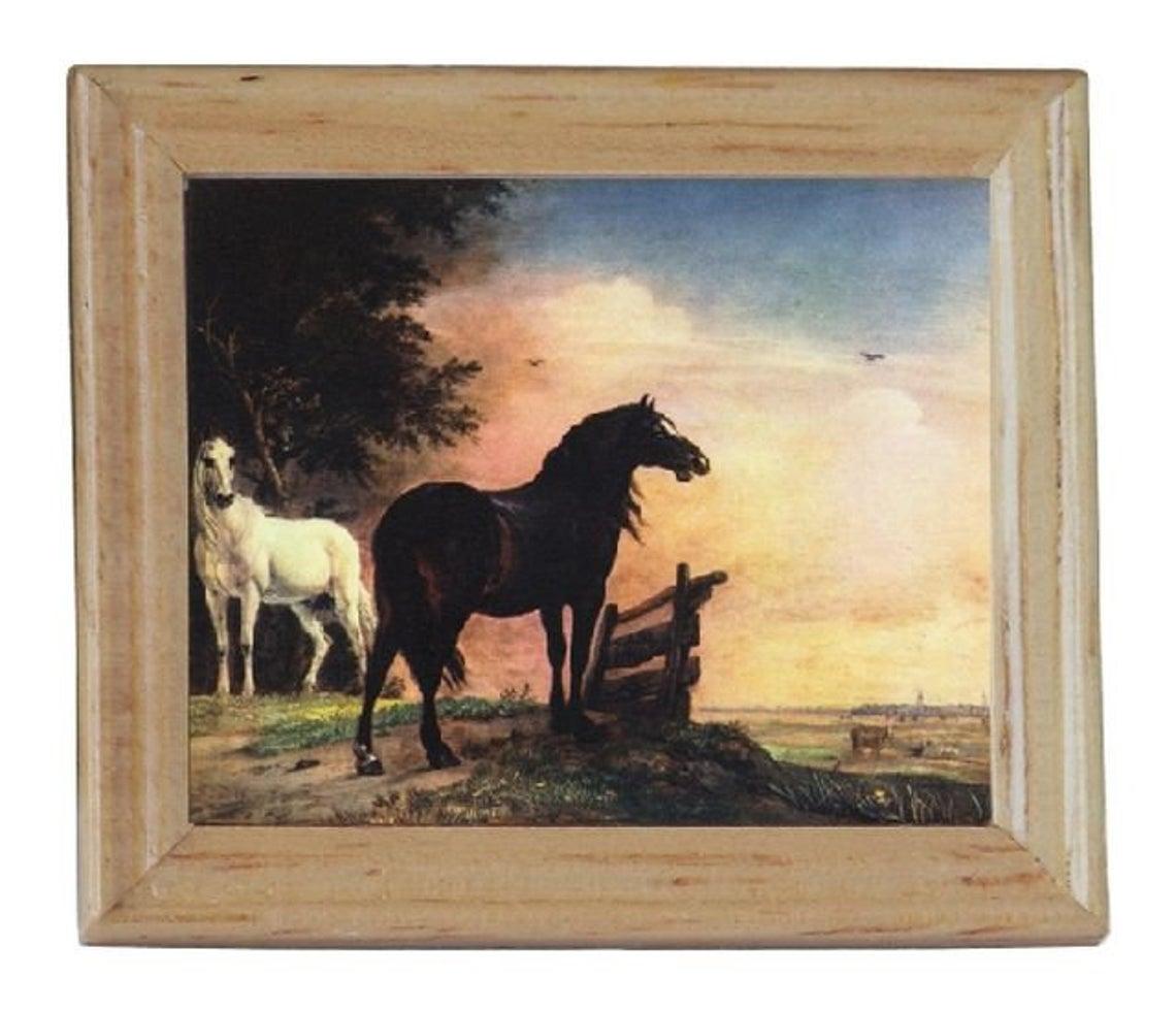 Gemäldekopien Pferde auf der Weide cm