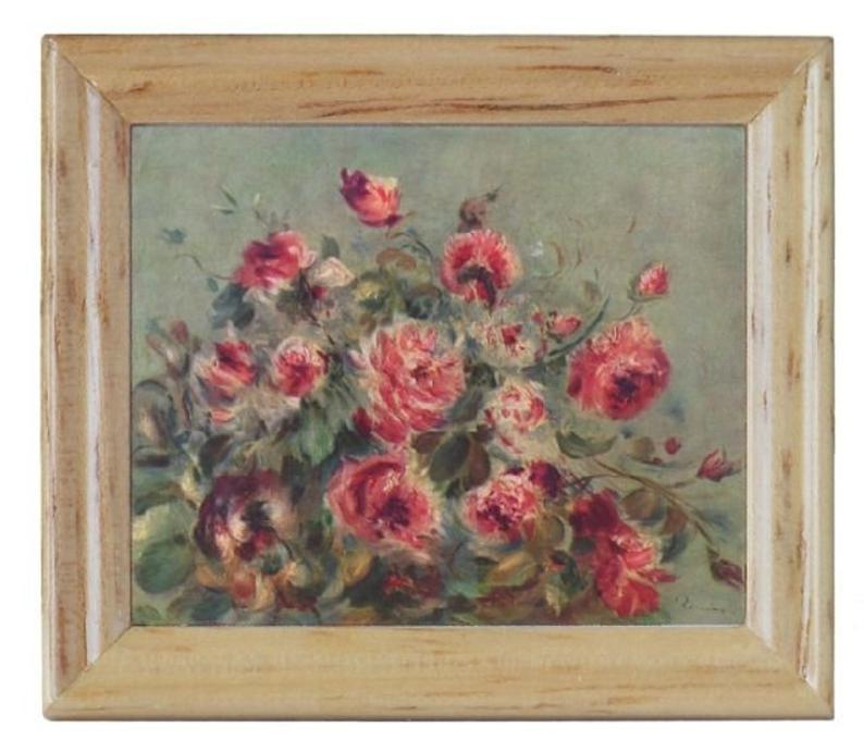 Gemäldekopie Rosen cm im Holzrahmen für