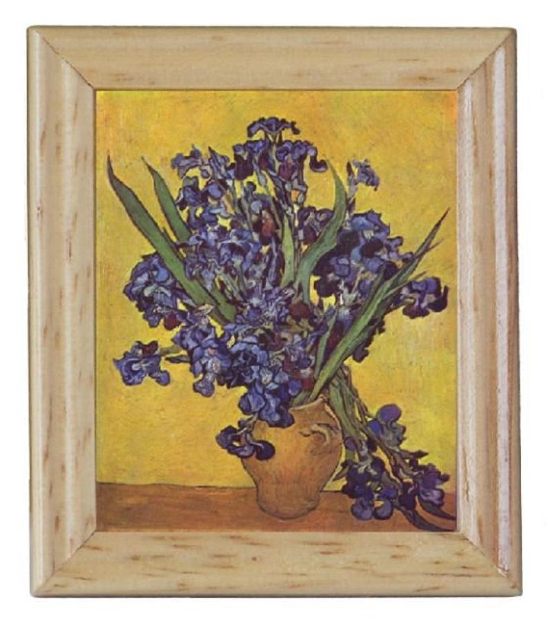 Gemäldekopien Schwertlilien cm im Holzrahmen für