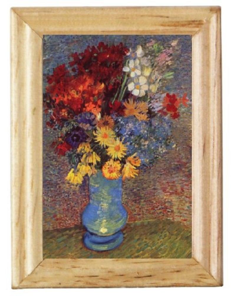 Gemäldekopien Blumenstrauß cm im Holzrahmen für