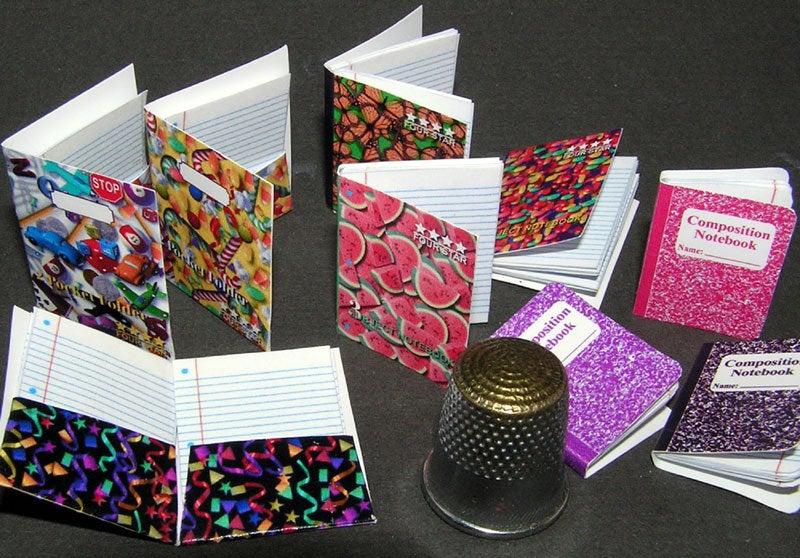Schreibhefte Paperminis Bastelkit aus Papier in
