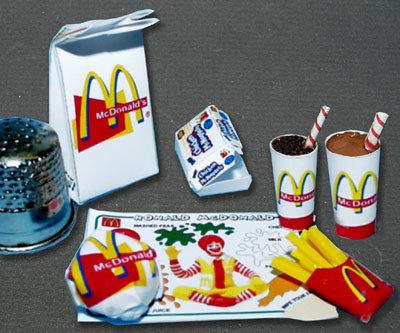 Fastfood Mc Donald Paperminis 2