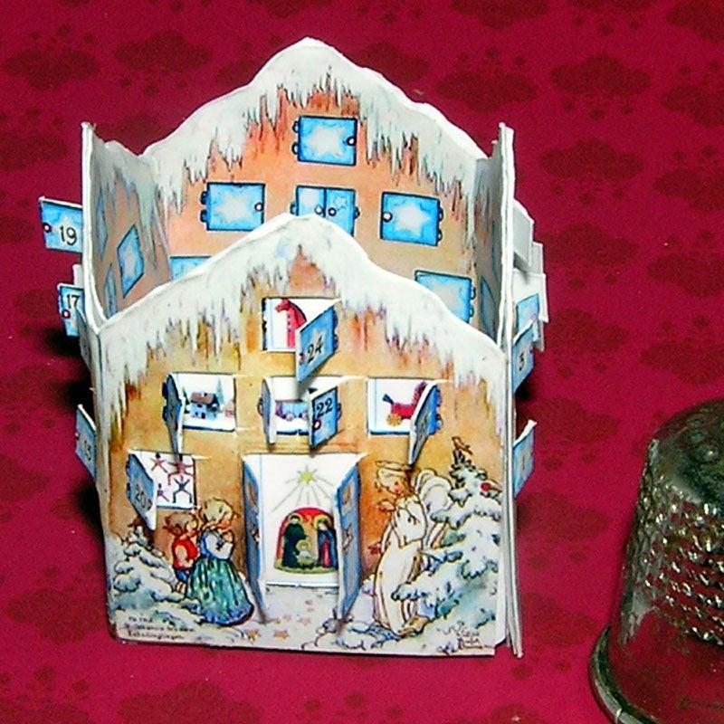 Adventskalender Bastelkit aus Papier in Miniatur