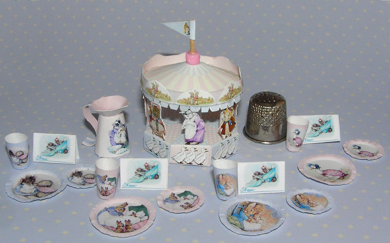Beatrix Potter Motto Party Baby Bastelkit