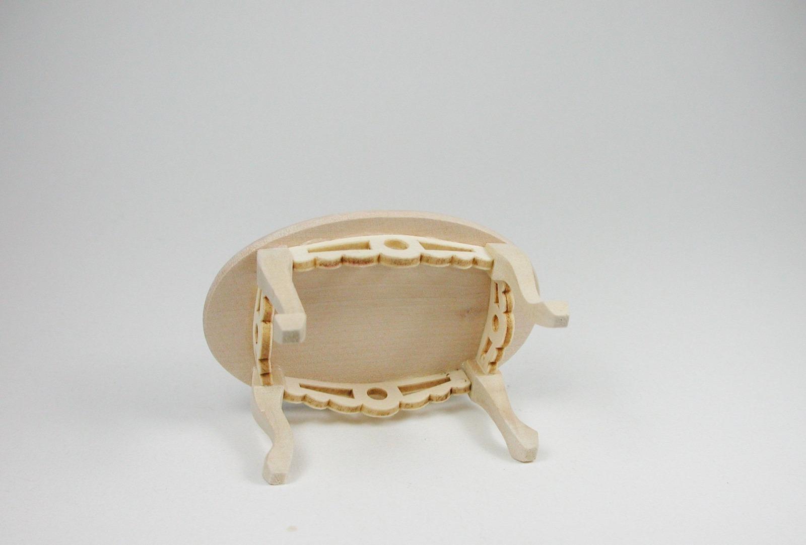 Tisch oval Couchtisch 1:12 Miniatur 3
