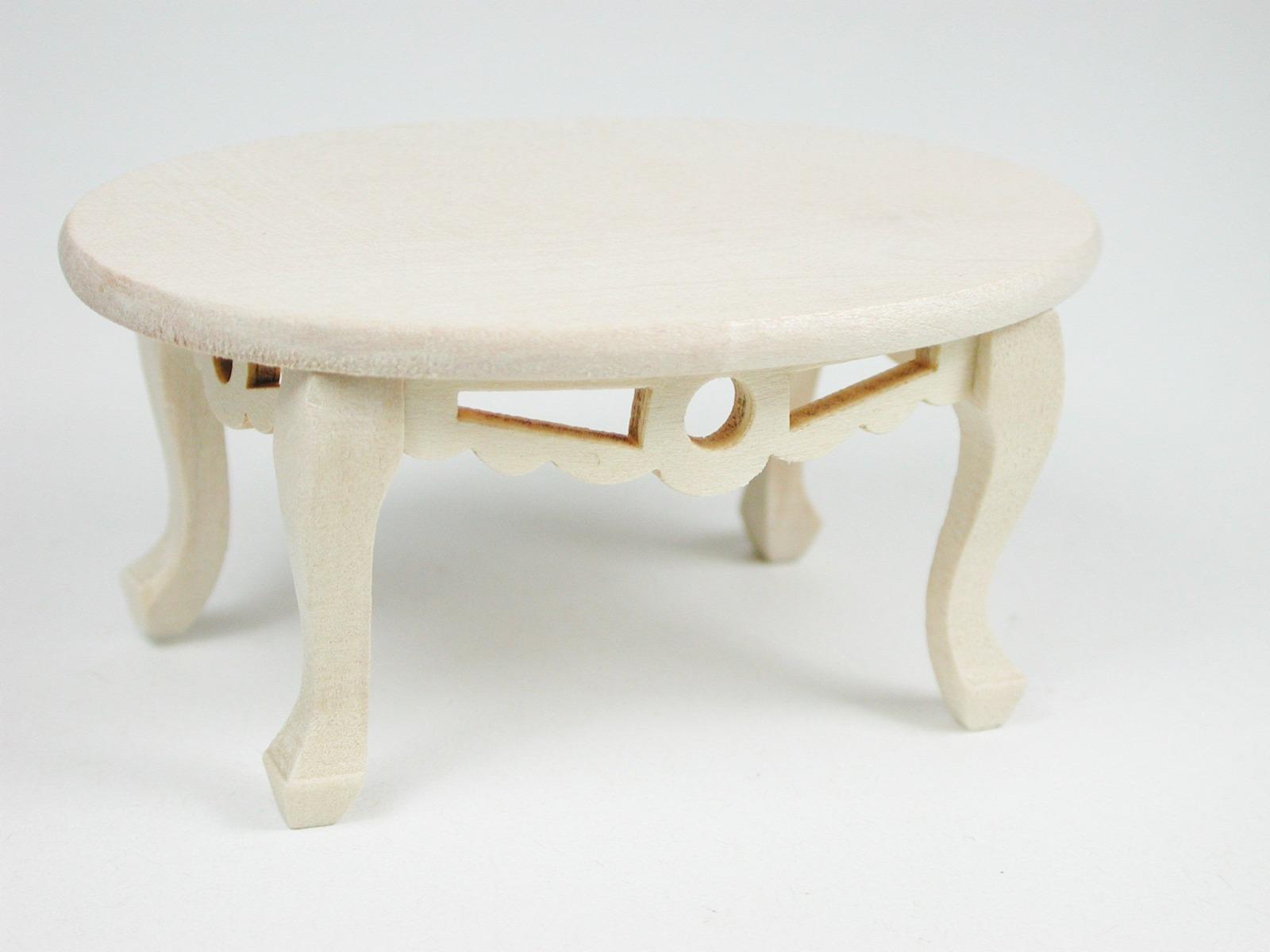 Tisch oval Couchtisch 1:12 Miniatur 4