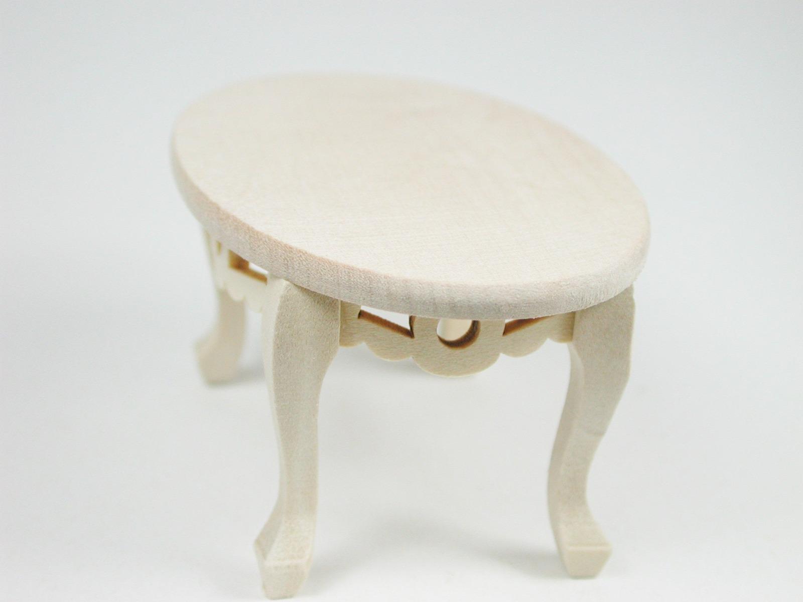Tisch oval Couchtisch 1:12 Miniatur 5