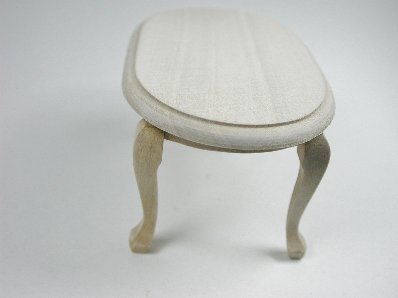 Couchtisch oval 1:12 Miniatur 3