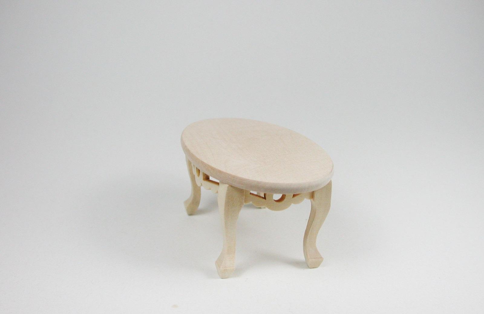 Tisch oval Couchtisch 1:12 Miniatur 2