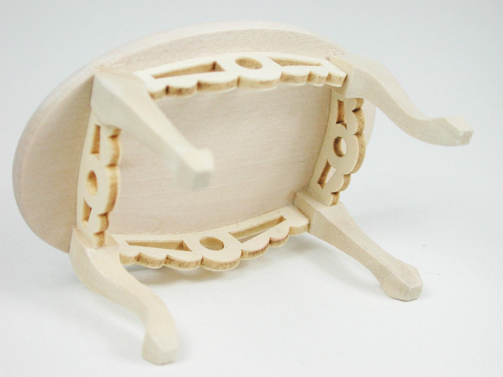 Tisch oval Couchtisch 1:12 Miniatur 6