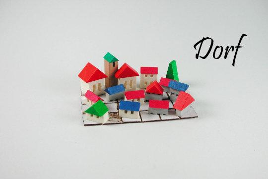 Dorf oder Burg Holzkunst aus dem