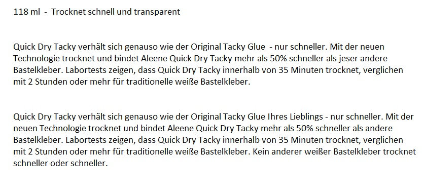 Aleenes Quick Dry Tacky Glue für