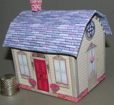 Americana-Cottage Paperminis Bastelkit aus Papier in