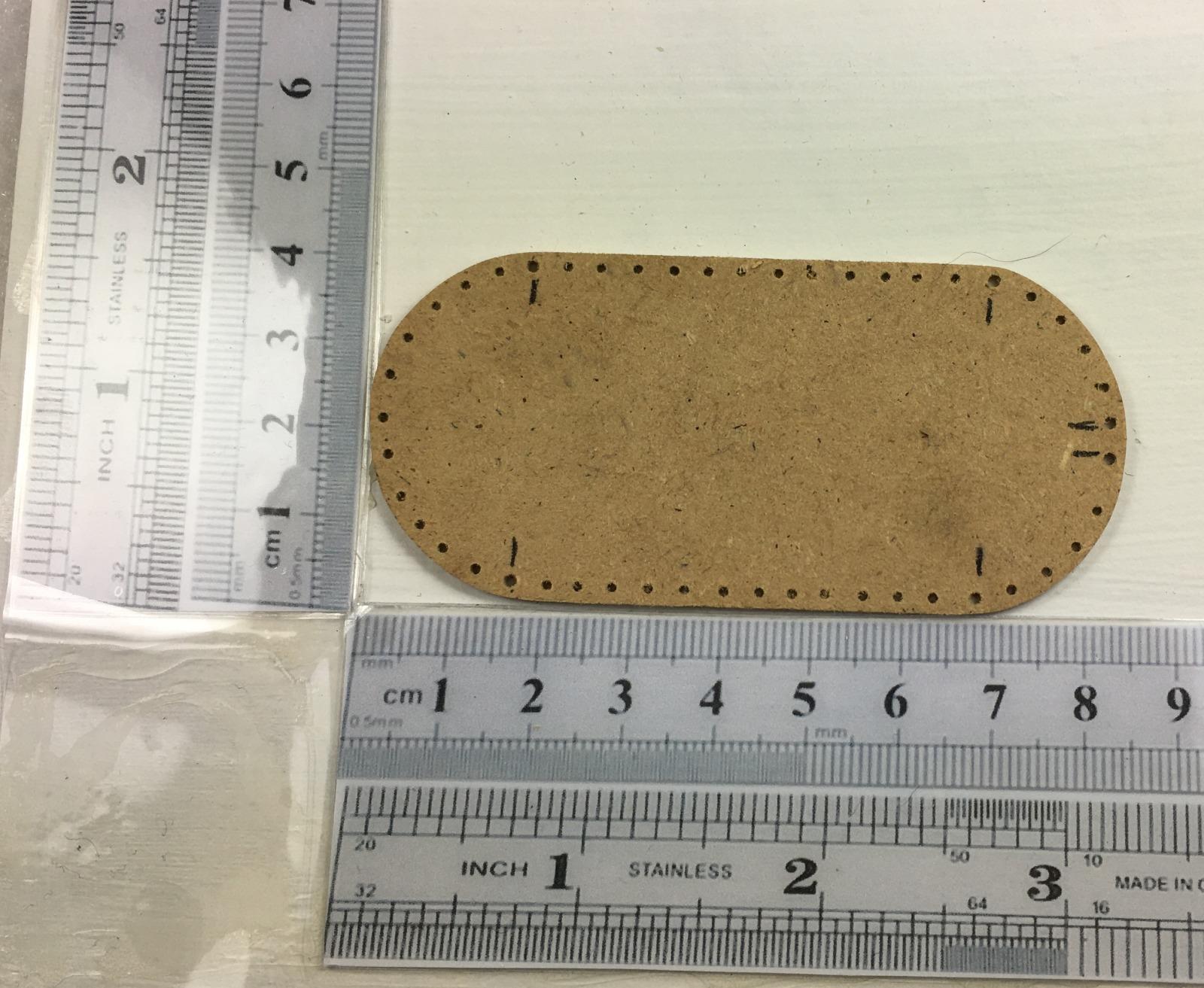 Brettchen ca cm oval für Wiege