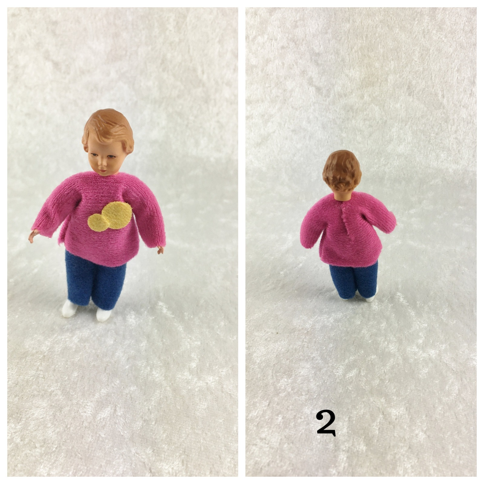 Mädchen 75 cm Caco Puppenstuben Biegepüppchen