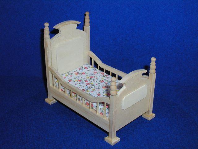 Kinderbett für die Puppenstube das Puppenhaus