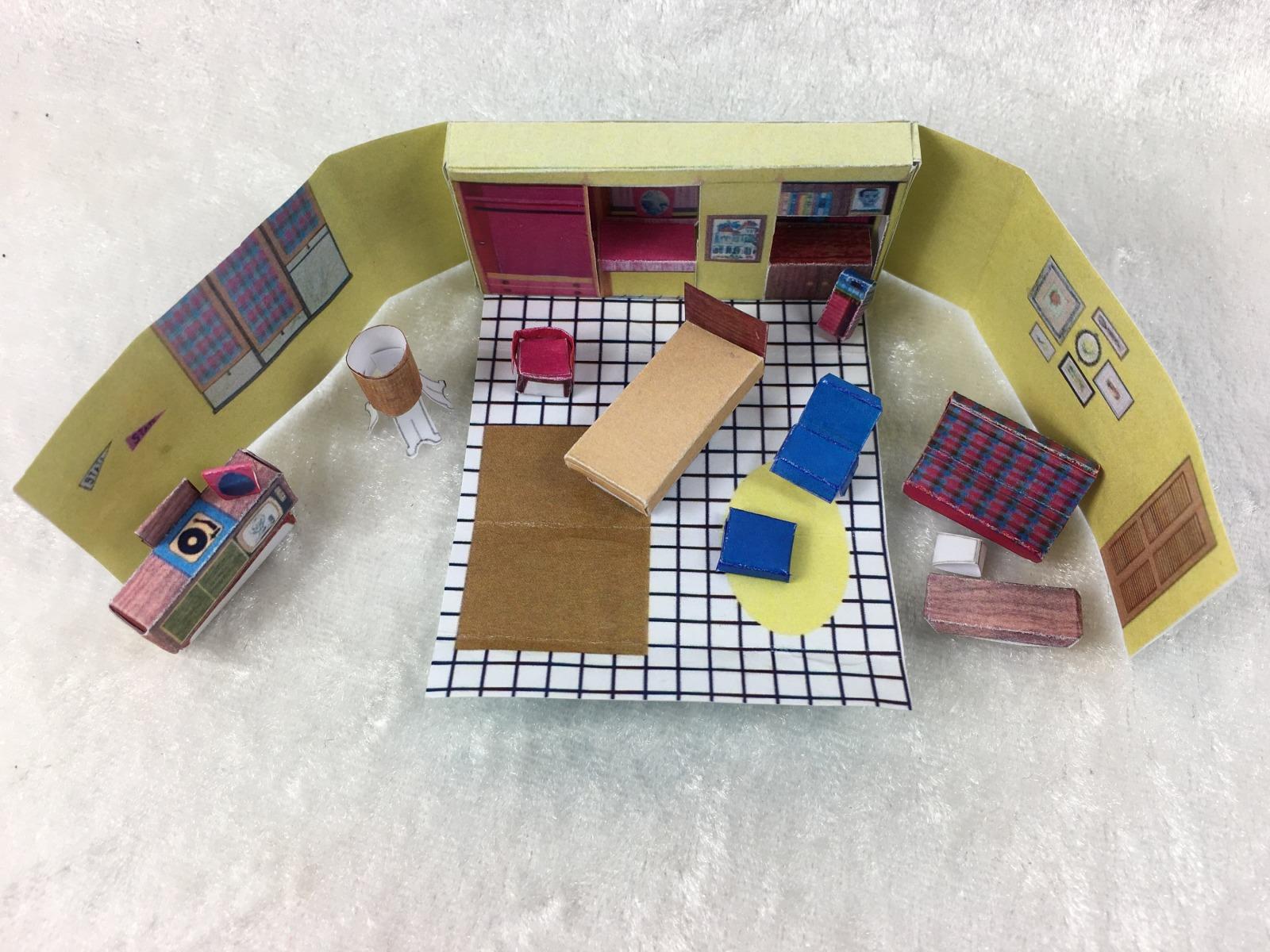 Puppenhaus im Koffer Paperminis Bastelkit aus