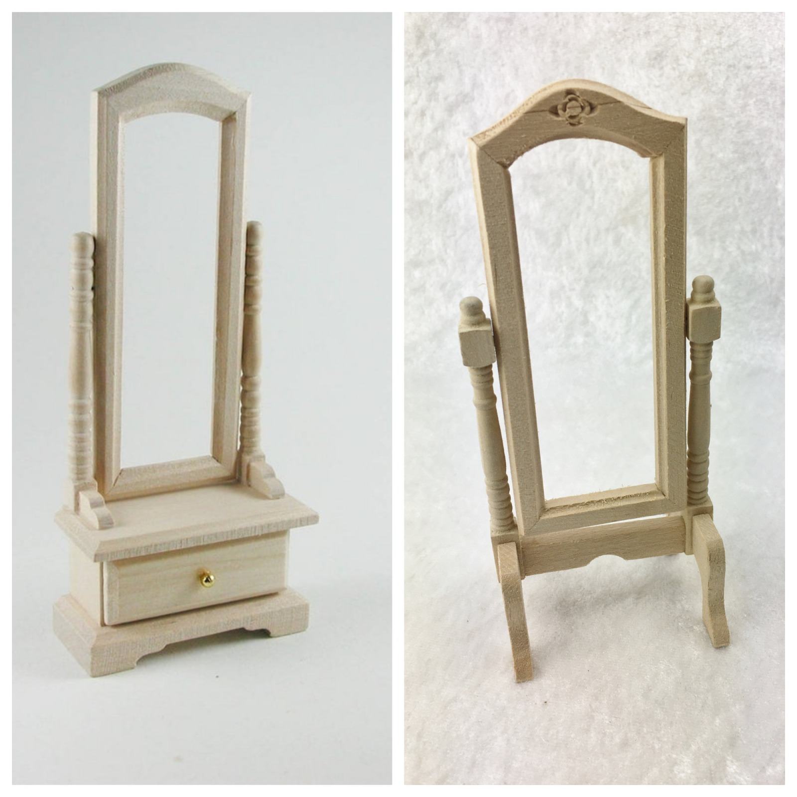 Standspiegel 1:12 Miniatur