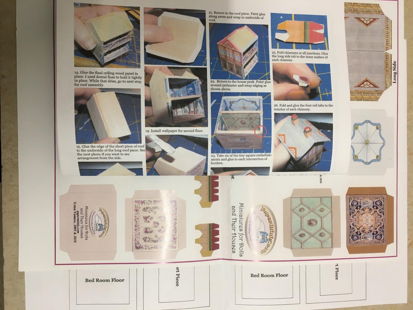 Viktoranisches Puppenhaus Paperminis Bastelkit aus Papier