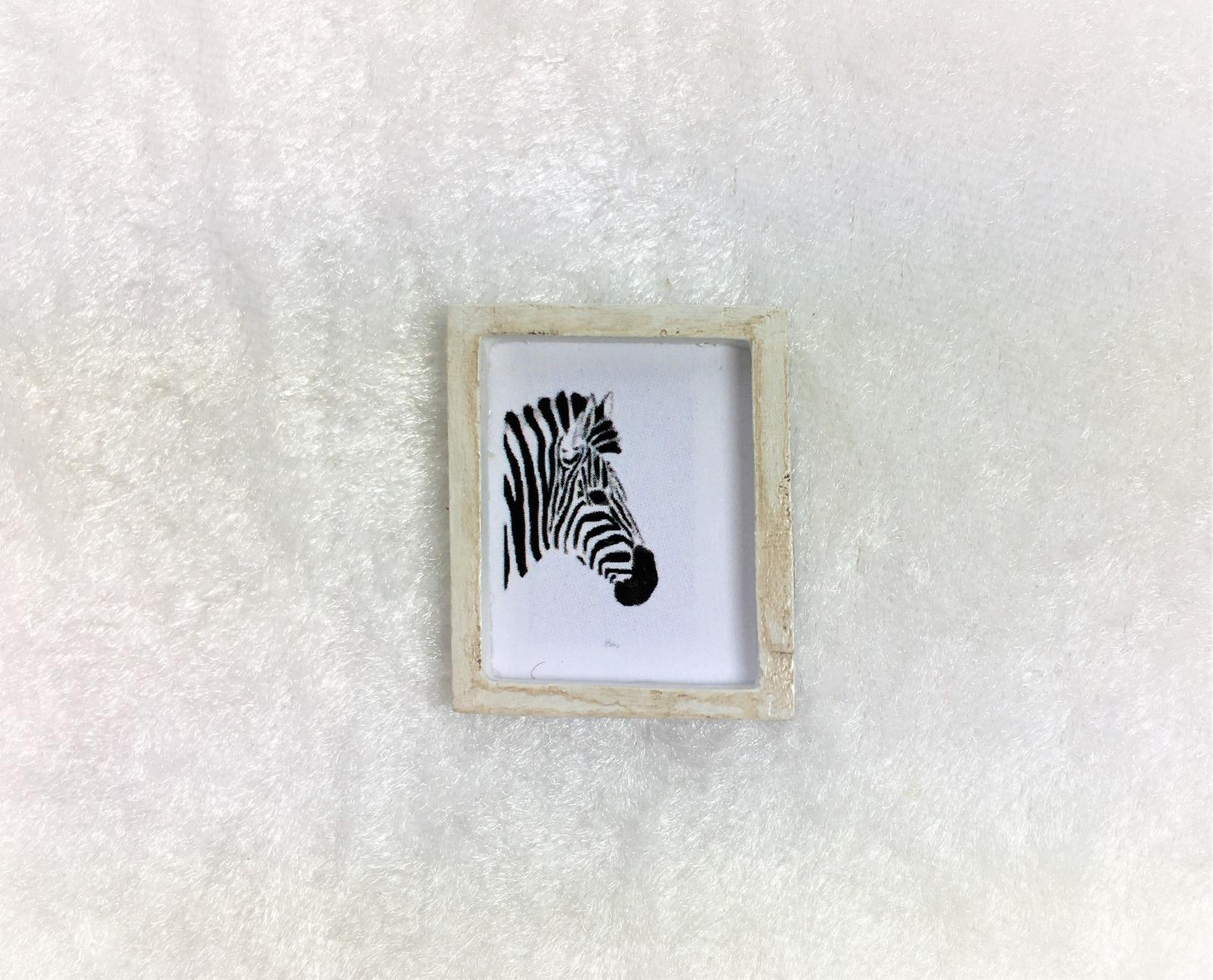 Bild im Rahmen cm Auge Giraffe