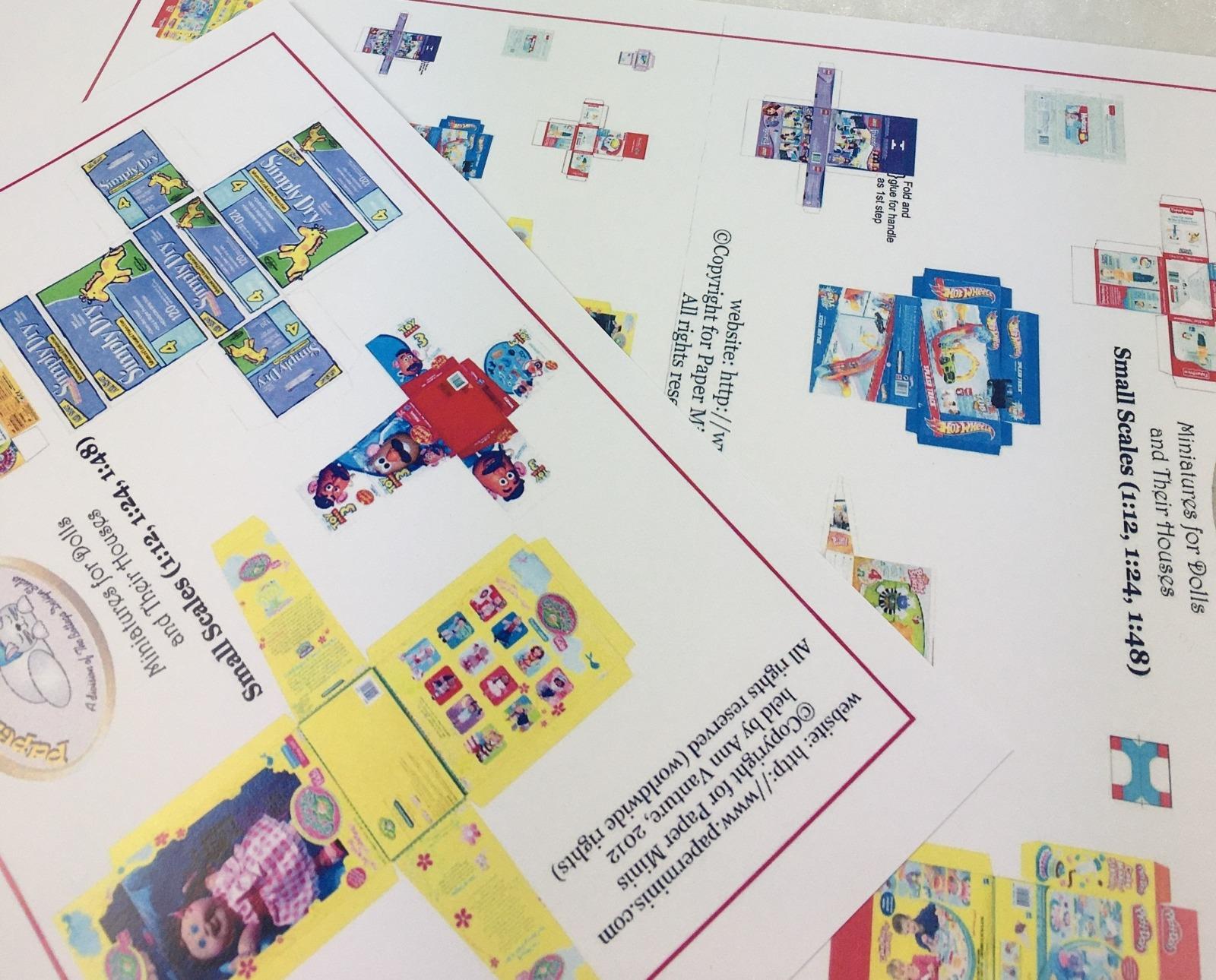 Spielzeug Schachtel Collection Paperminis Bastelkit aus