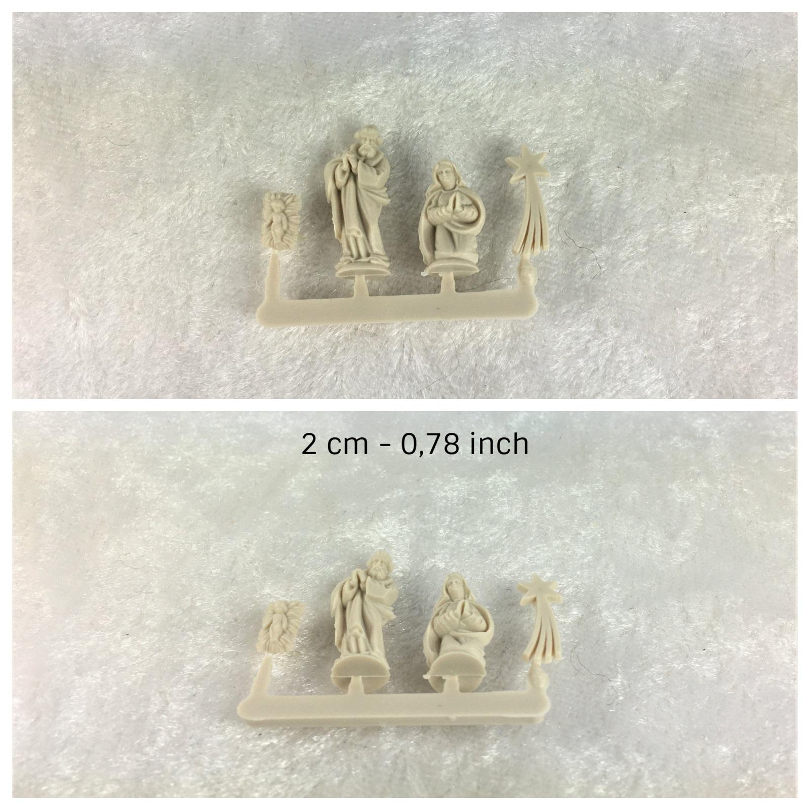 Krippenfiguren Rehe mit Tanne Nussschale Einsatz