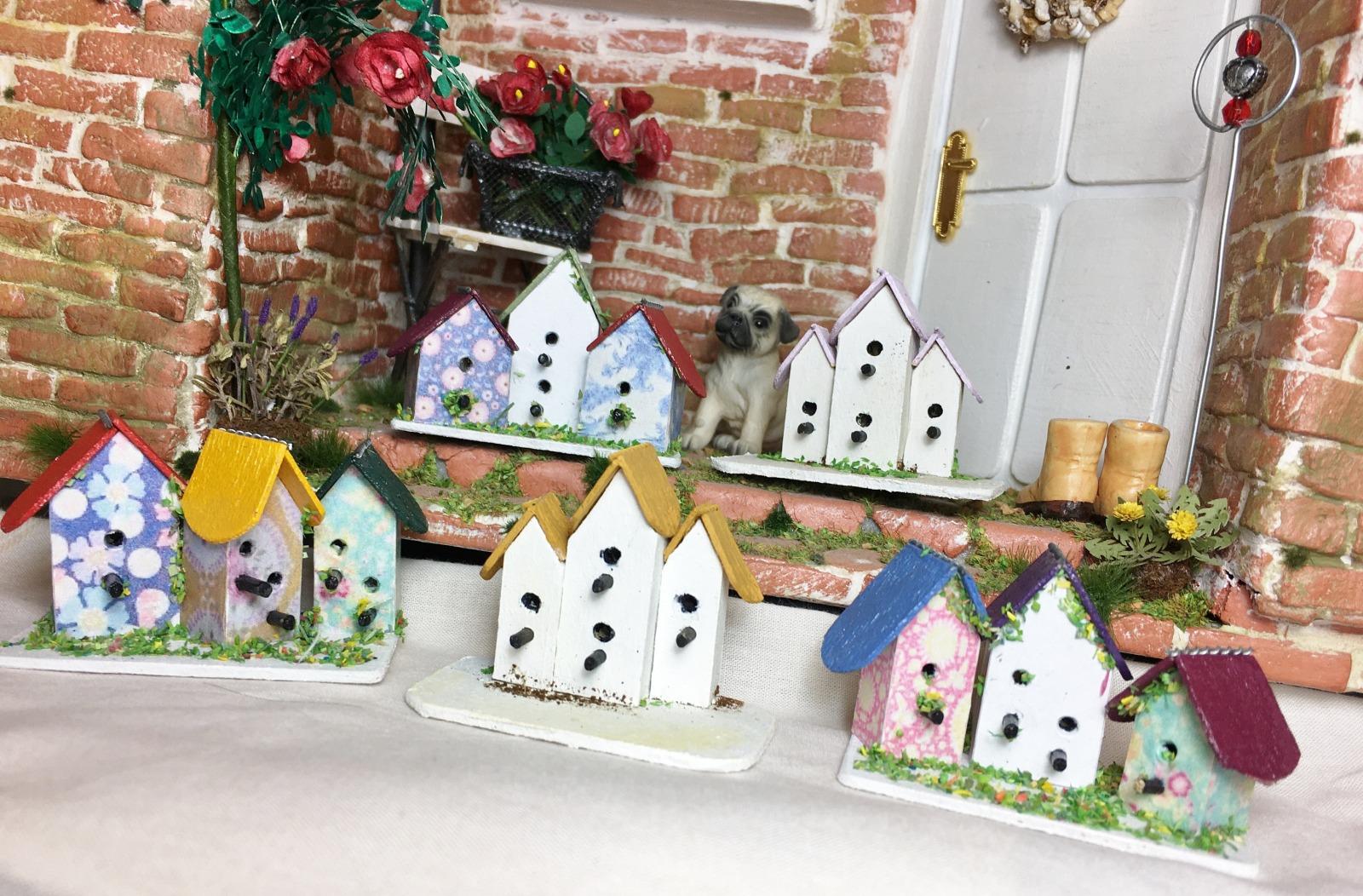 Vogelhaus in Miniatur 1zu12 für das