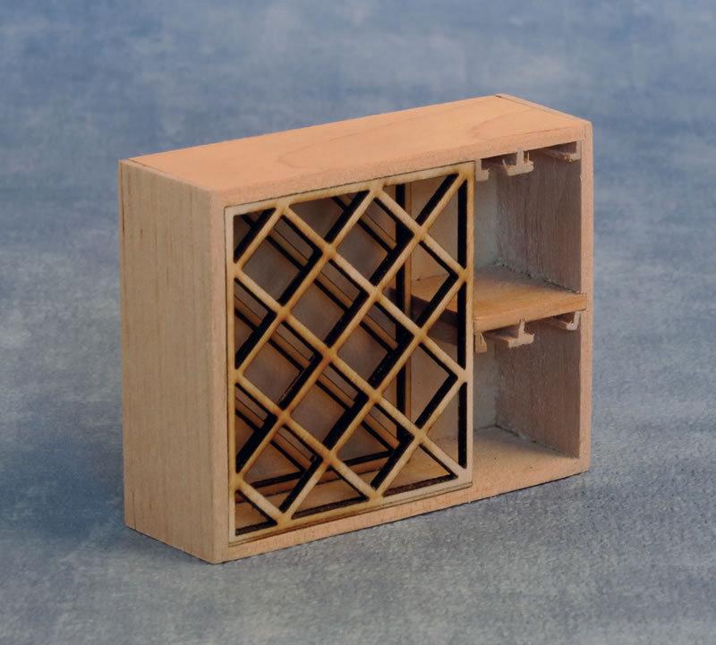 Weinregal 1:12 Miniatur