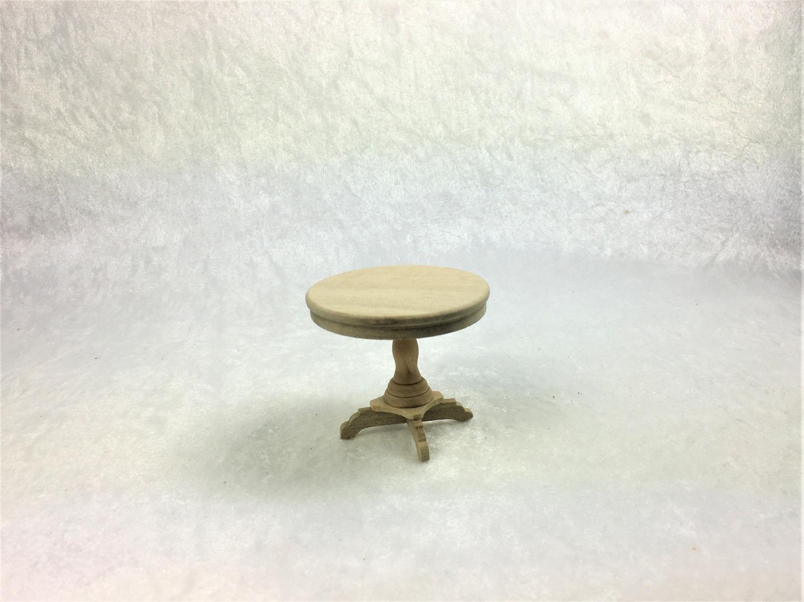 Kleiner runder Beistelltisch in Miniatur 1:12