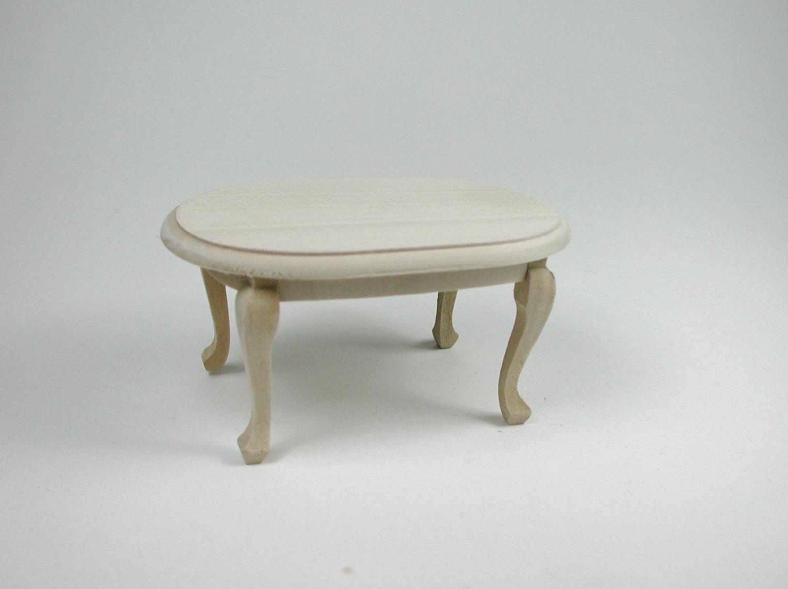 Couchtisch oval 1:12 Miniatur