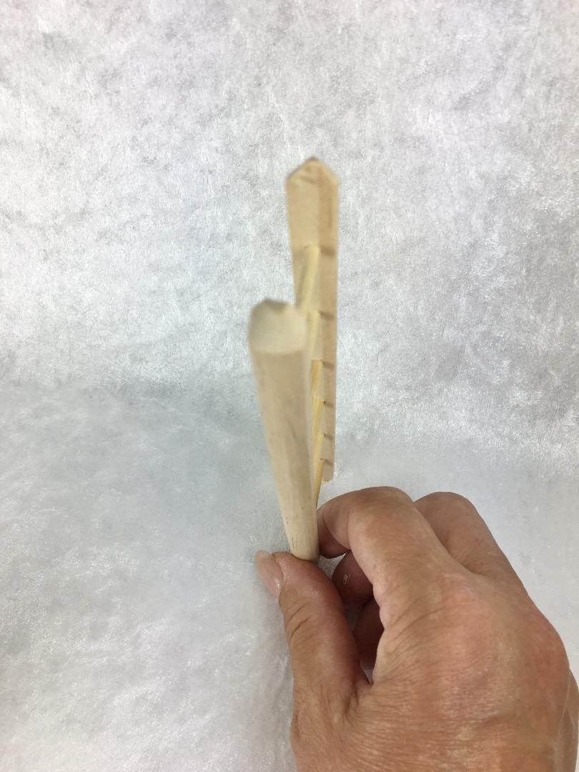 Holzleiter für die Puppenstube das Puppenhaus