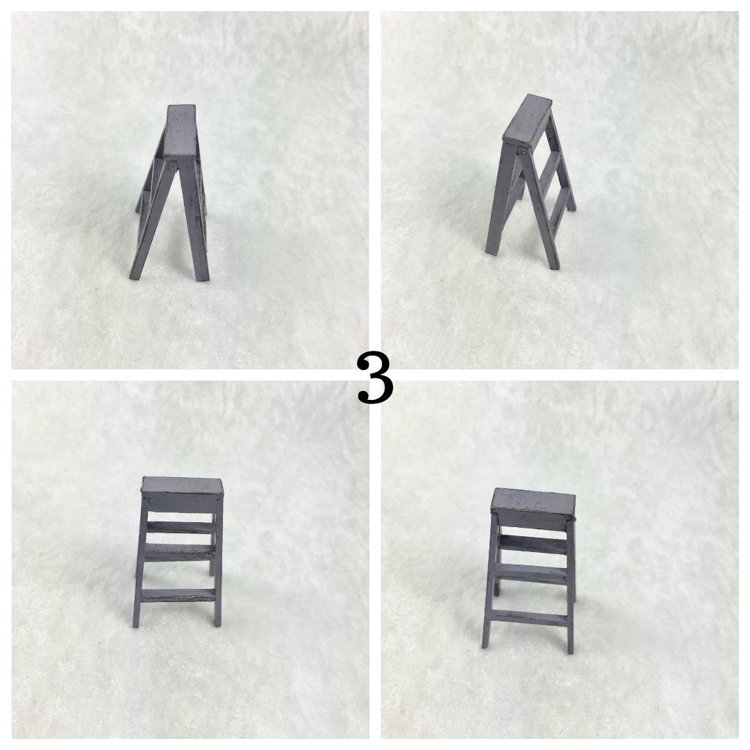Kleine Leiter in Miniatur 1zu12 3