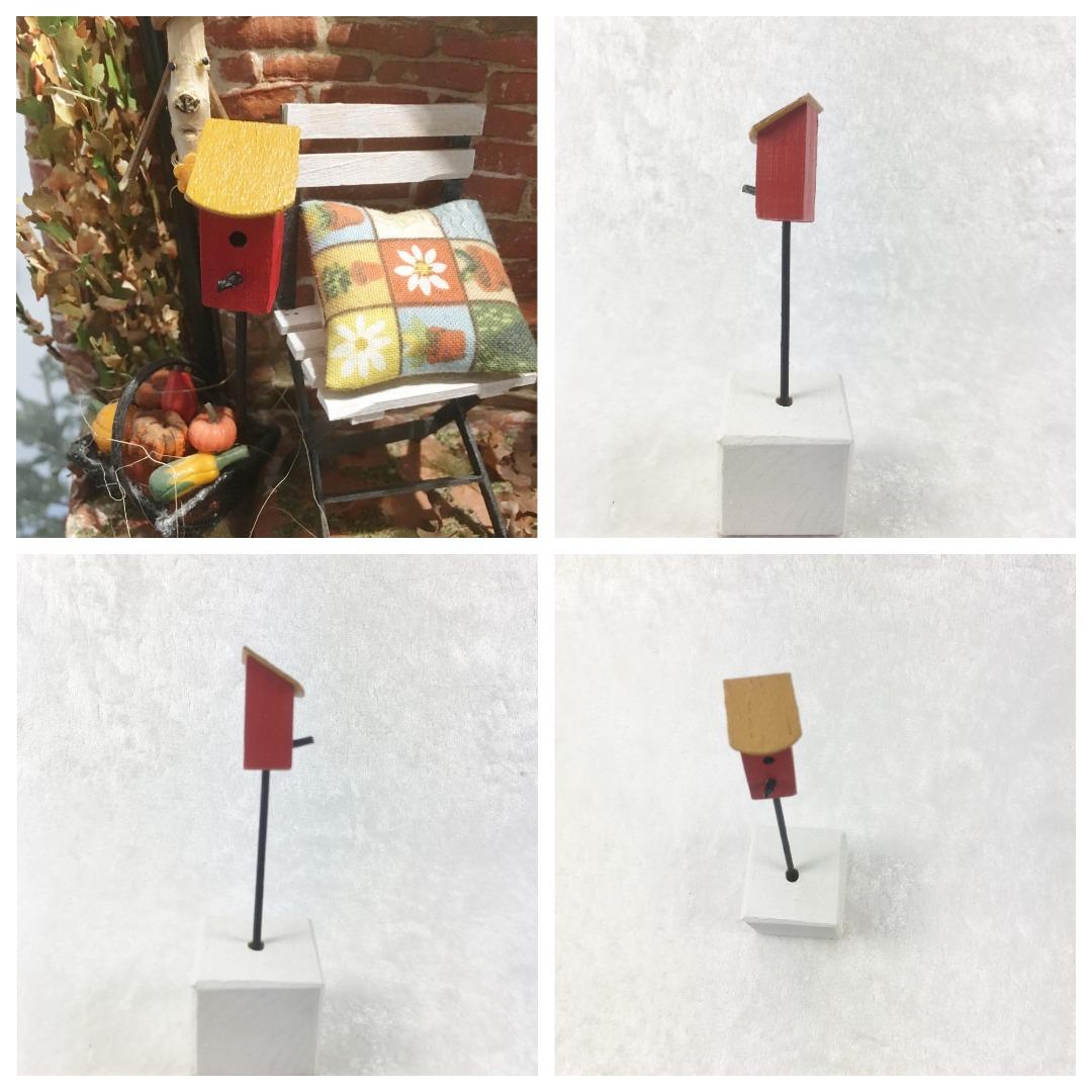 Vogelhaus auf Stab Miniatur Nistkasten für
