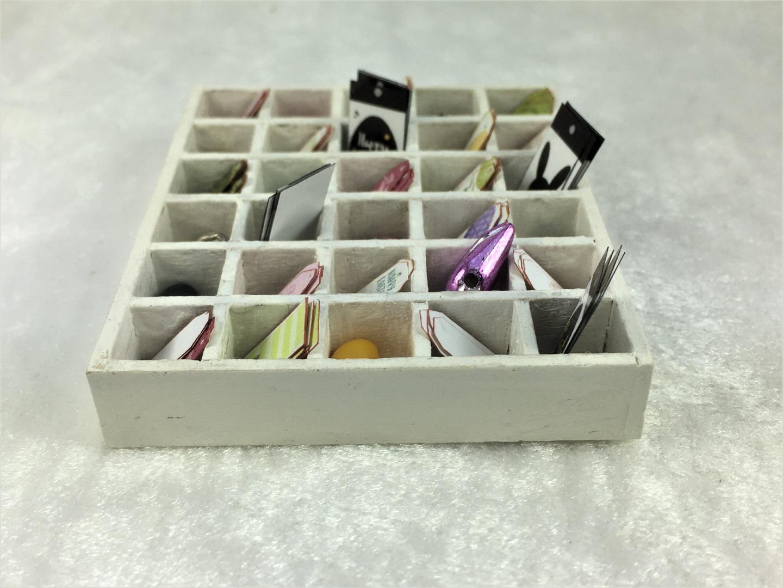 Miniatur Setzkasten im Vintage Stil Ostermotive