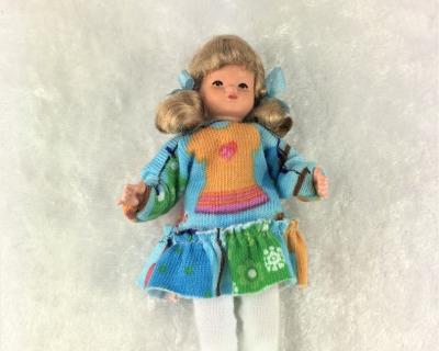 Mädchen 8 cm Caco Puppenstuben Biegepüppchen