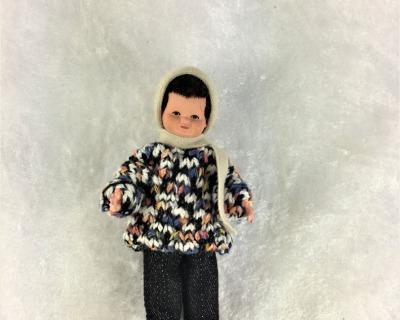 Junge 75 cm Caco Puppenstuben Biegepüppchen