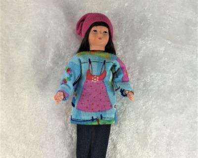 Mädchen 10 cm Caco Puppenstuben Biegepüppchen