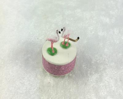 Spieluhr Motiv Flamingo Spieldose in Miniatur