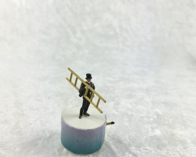 Spieluhr Motiv Schornsteinfeger Spieldose in Miniatur