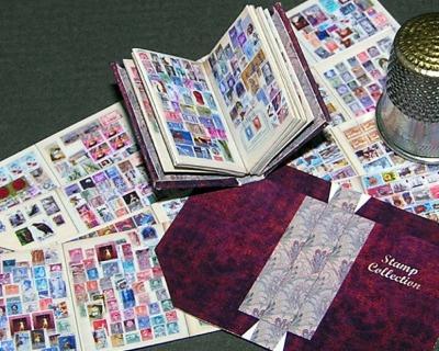 Briefmarkenalbum Paperminis Bastelkit aus Papier Bastelkit
