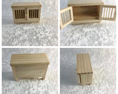 Kaninchenstall für die Puppenstube das Puppenhaus